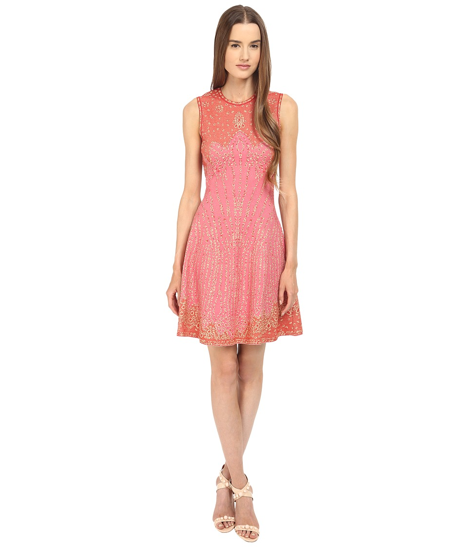 M Missoni - Beaded Jaquard Dress (Pink) Women's Dress