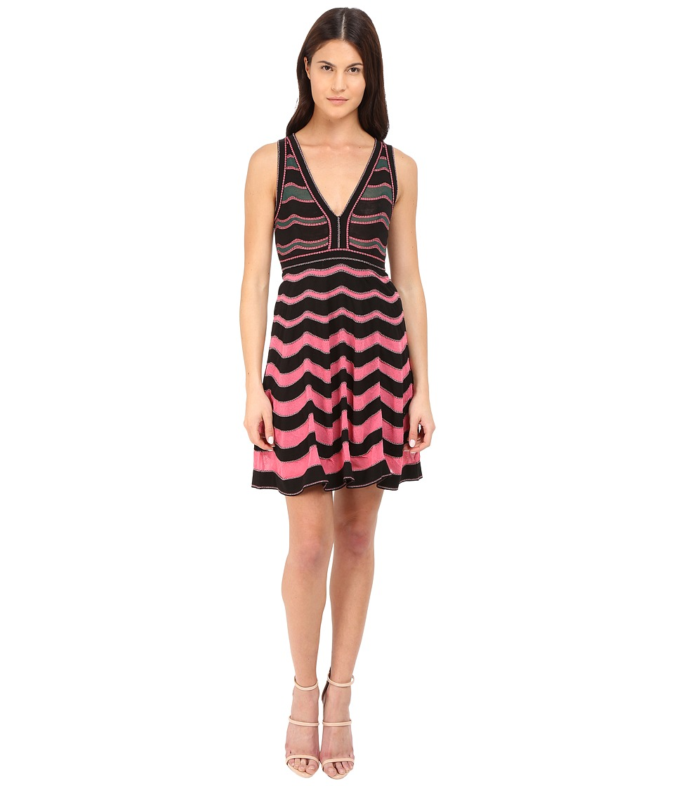 M Missoni Ripple Stitch V-Neck Dress