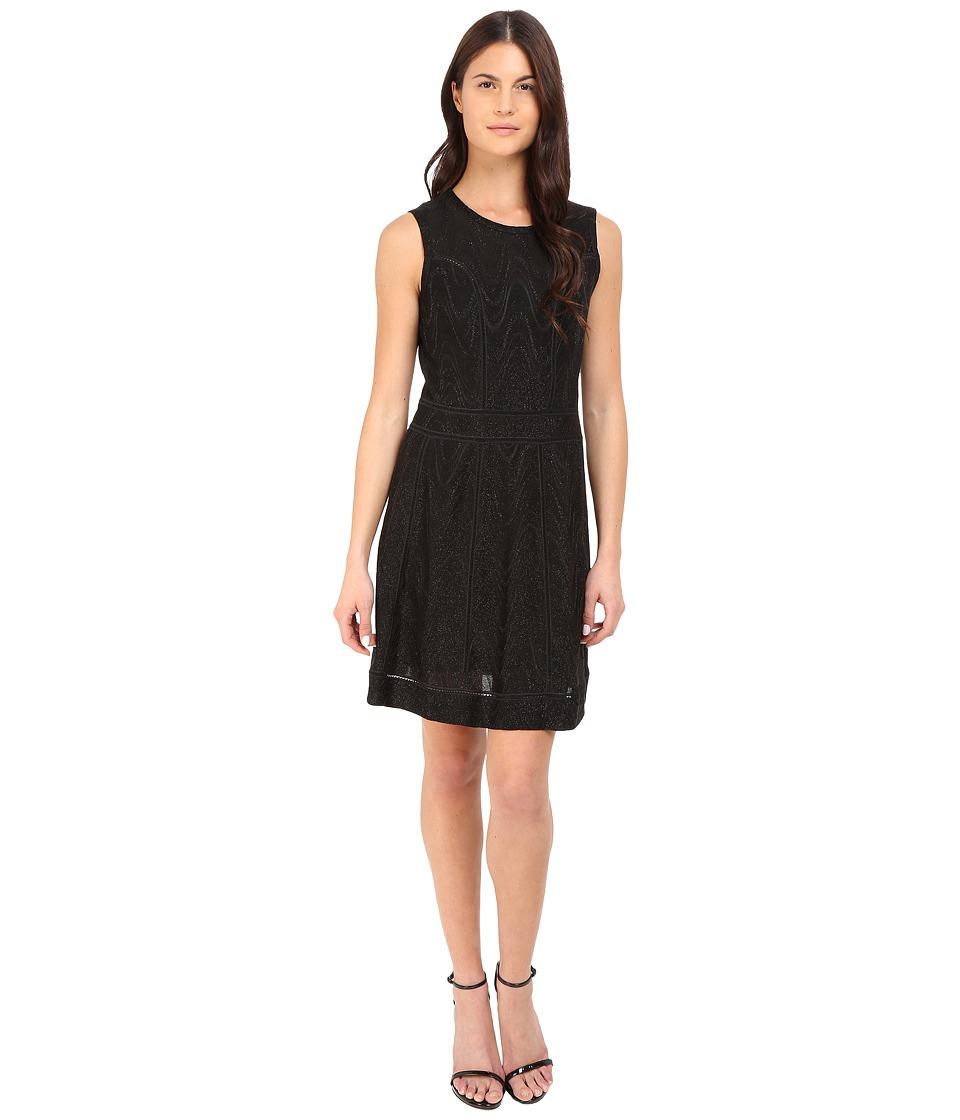 M Missoni - Lurex Jersey Dress (Black) Women's Dress