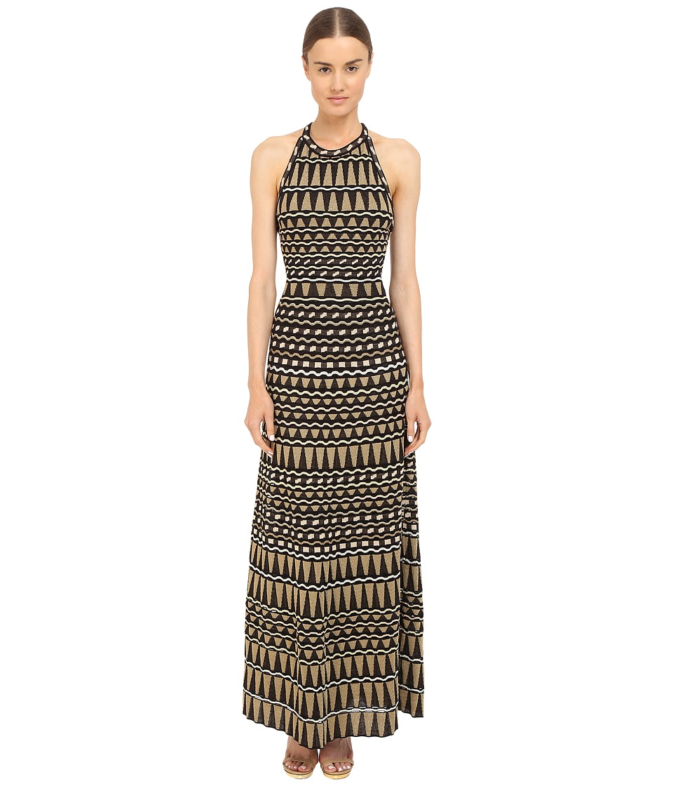 M Missoni Lurex Geometrc Maxi Dress (Black) Women