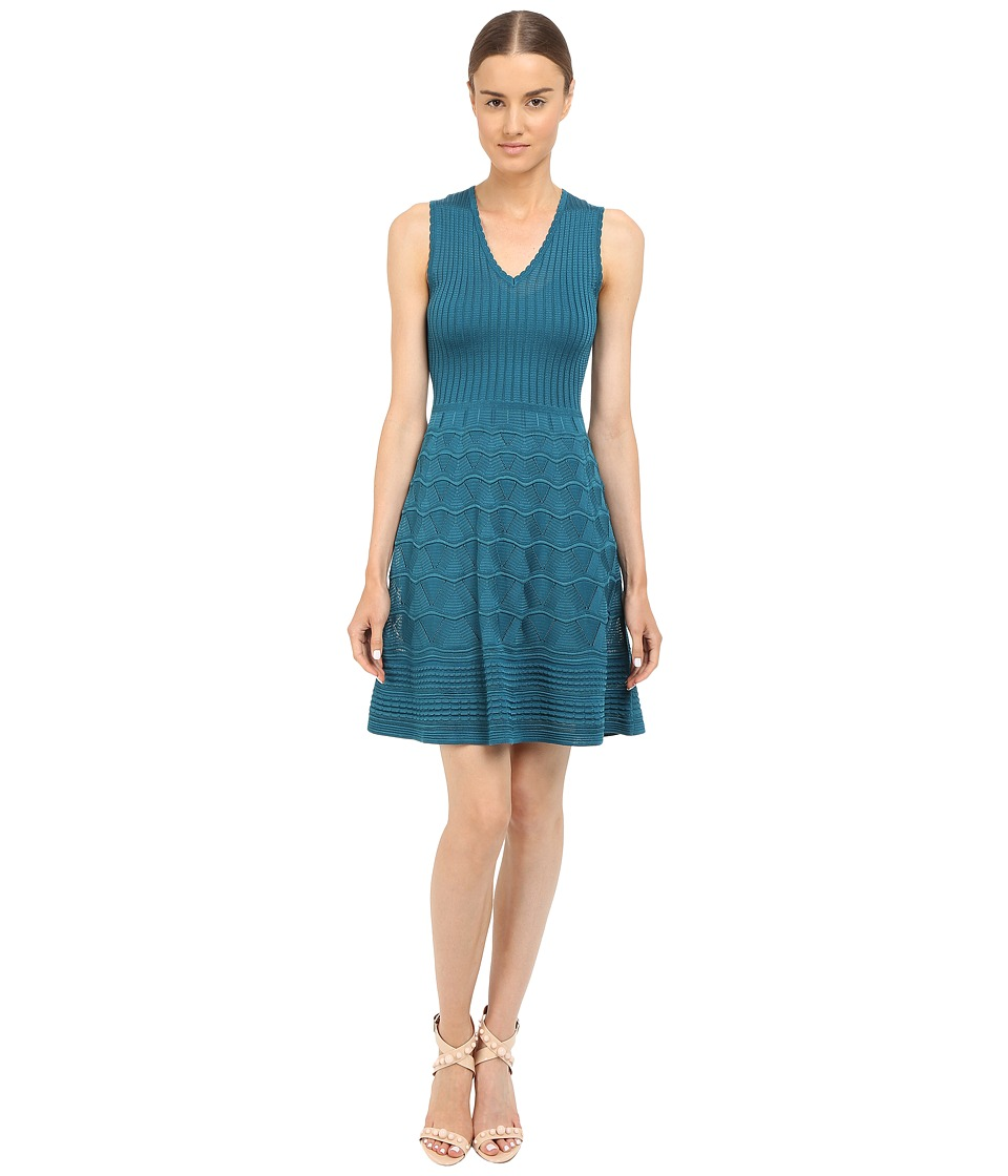 M Missoni Solid Knit Dress (Teal) Women