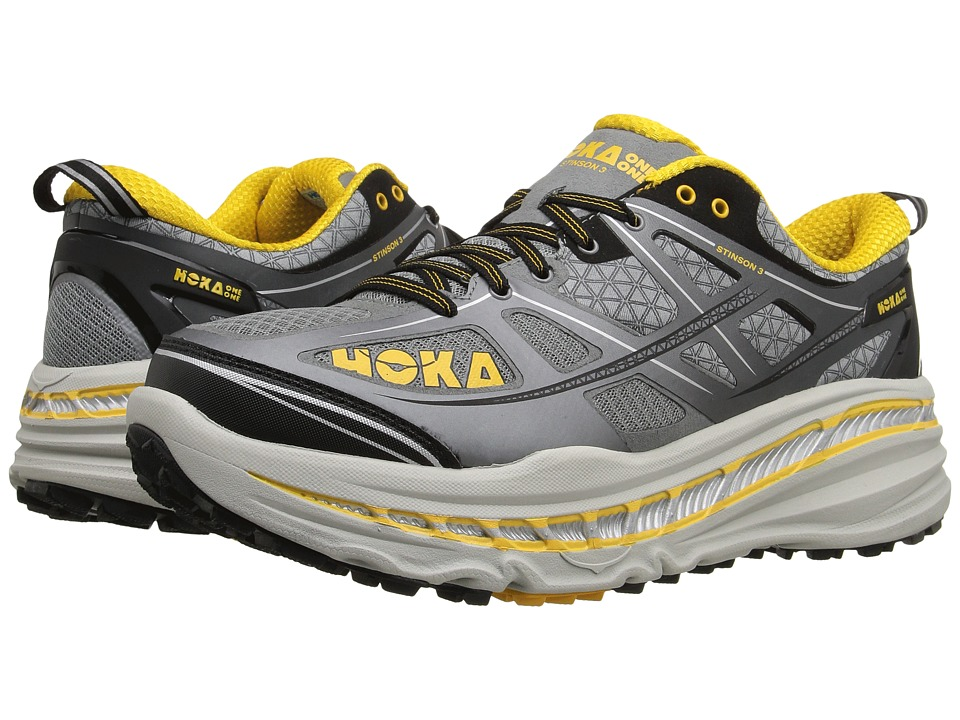 Hoka One One - Stinson 3 ATR (Grey/Gold Fusion) Men's Running Shoes