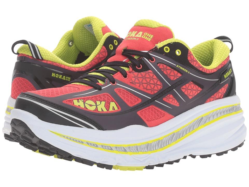 Hoka One One - Stinson 3 ATR (Cayenne/Acid) Men's Running Shoes