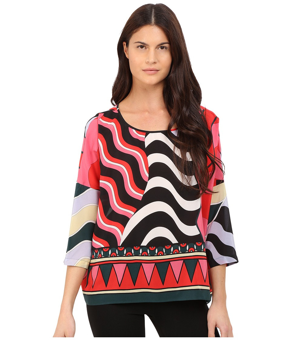 M Missoni - Abstract Top (Black) Women's Clothing