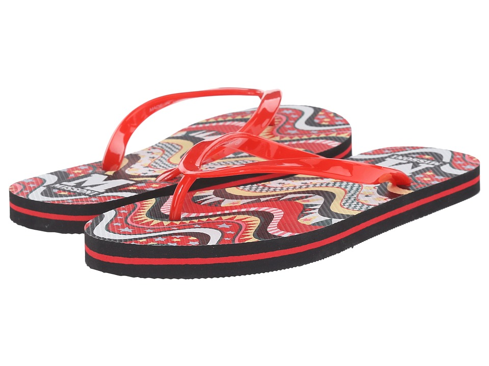 M Missoni Flip Flops (Red) Women