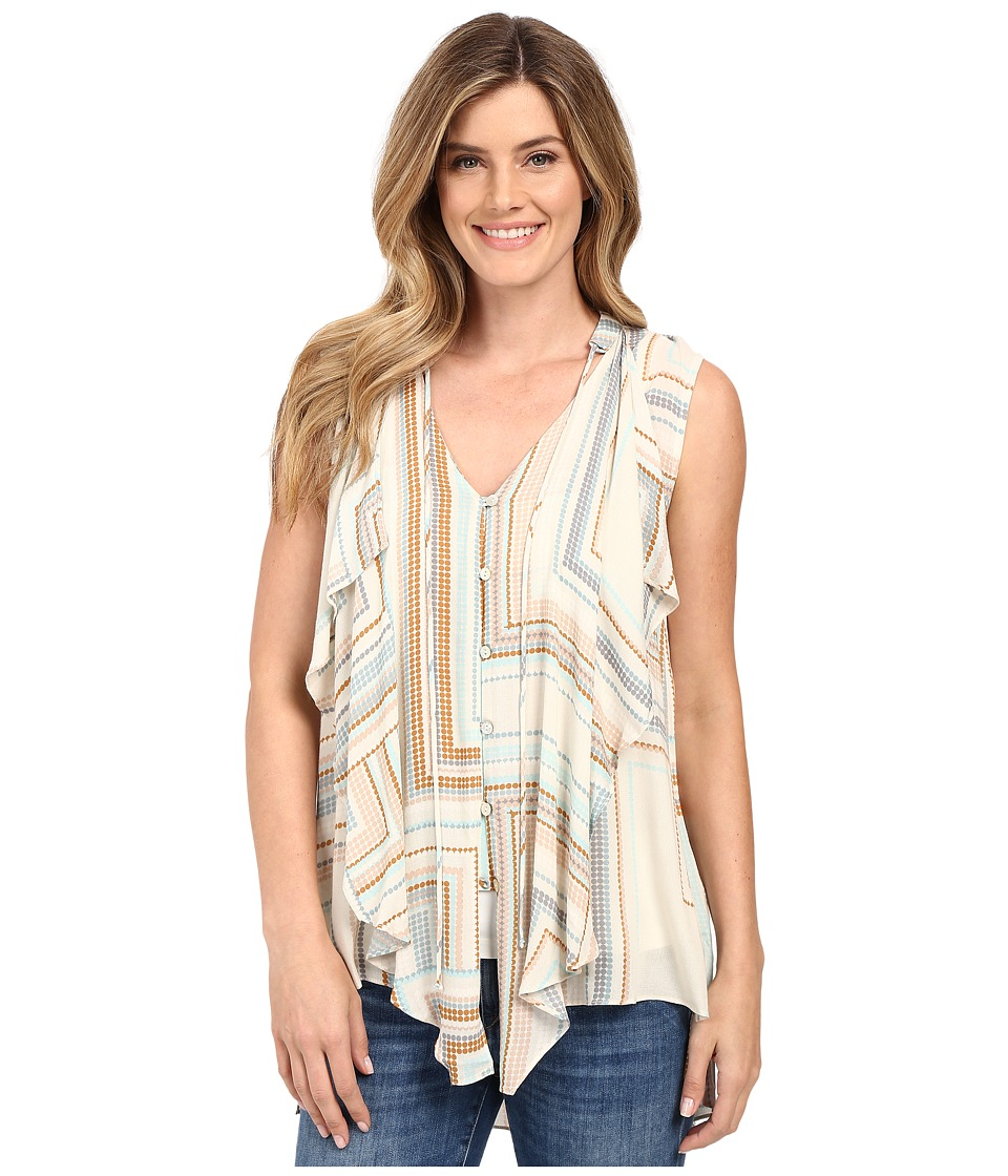 Miraclebody Jeans Farah Cascade Front Blouse w/ Body-Shaping Inner Shell (Butterscotch Yellow) Women