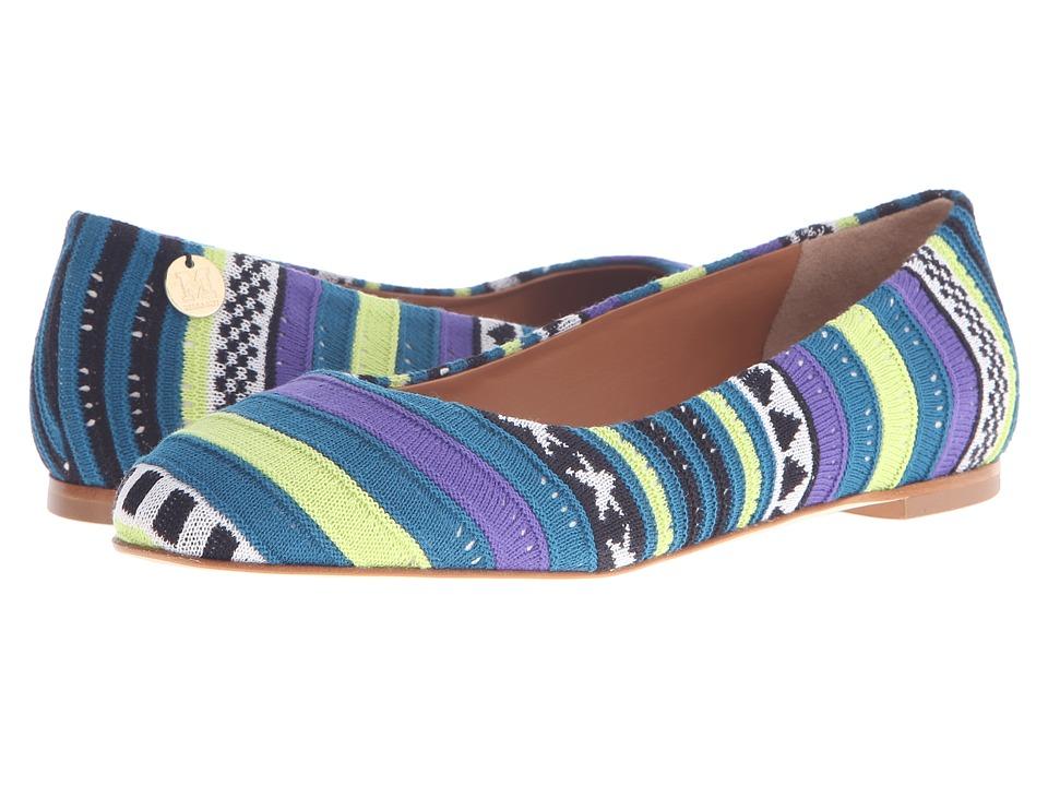 M Missoni Star Stripe Pink Ballet Shoes Citrus Ballet Shoes