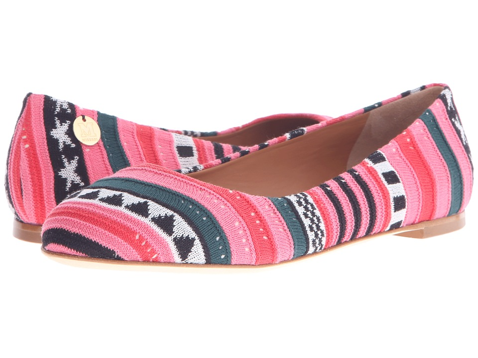 M Missoni - Star Stripe Pink Ballet Shoes (Red) Women's Ballet Shoes