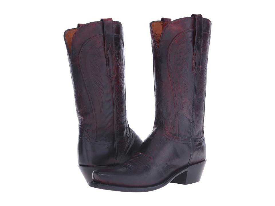 Lucchese Willa (Black Cherry) Cowboy Boots