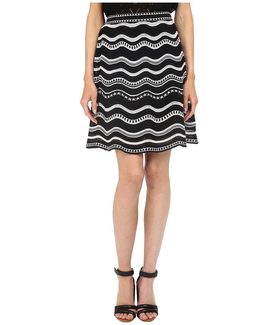 M Missoni - Star Stripe Skirt (Black) Women's Skirt