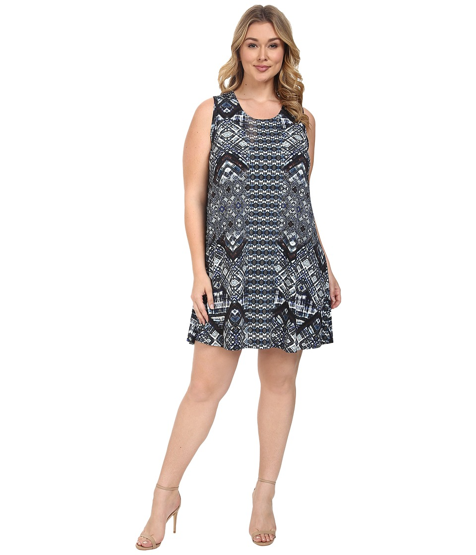 Karen Kane Plus - Plus Size Sleeveless Maggie Trapeze Dress (Print) Women's Dress