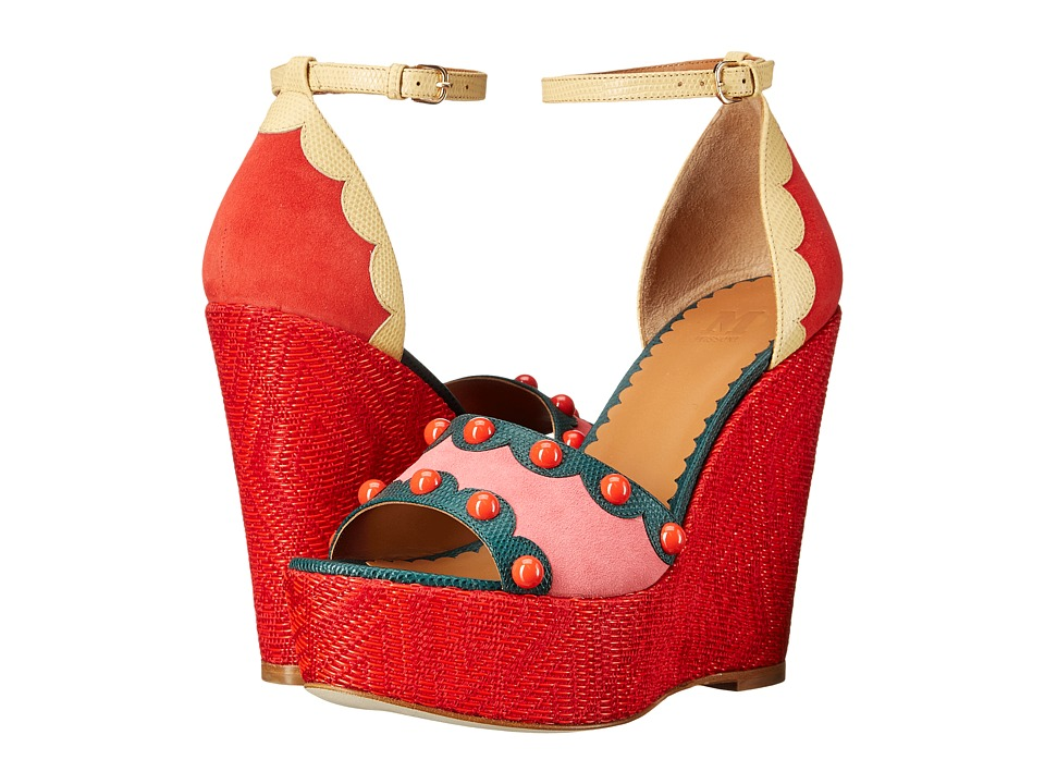 M Missoni Circus Wedges Pink Womens Wedge Shoes
