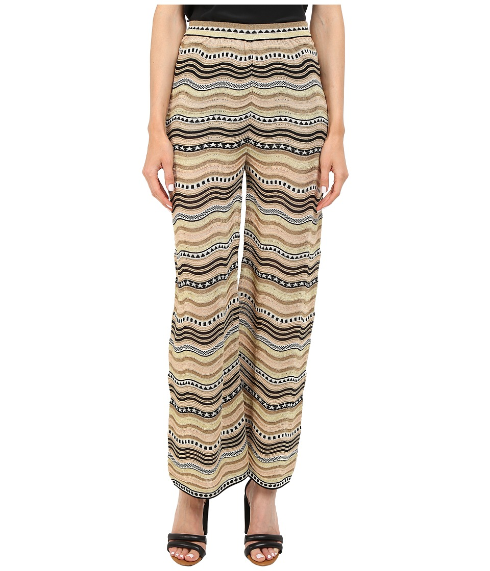 M Missoni - Lurex Star Stripe Pants (Black) Women's Casual Pants