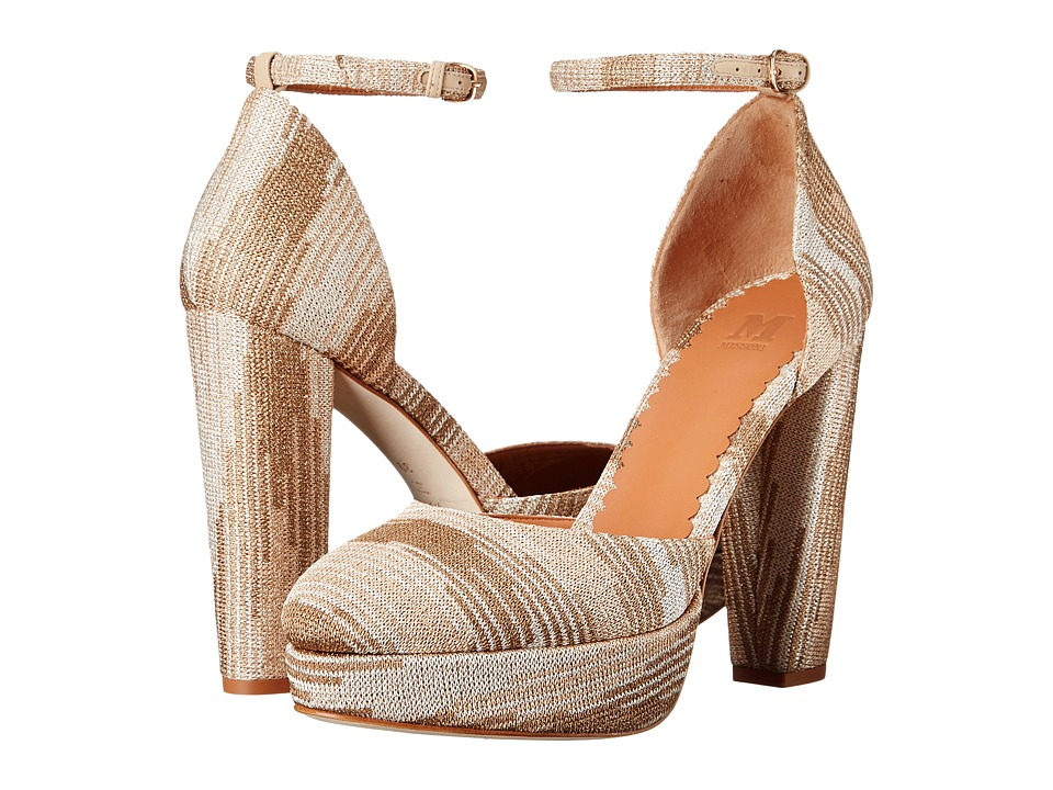M Missoni Lurex Heels (White) Women