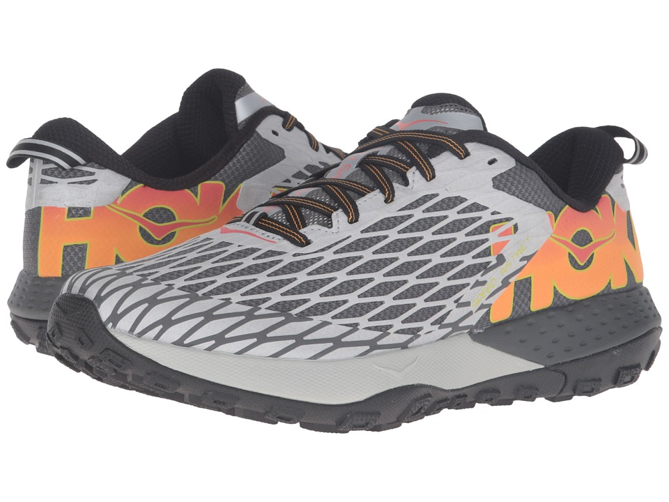 Hoka One One - Speed Instinct (Metallic Silver/Cayenne) Men's Shoes
