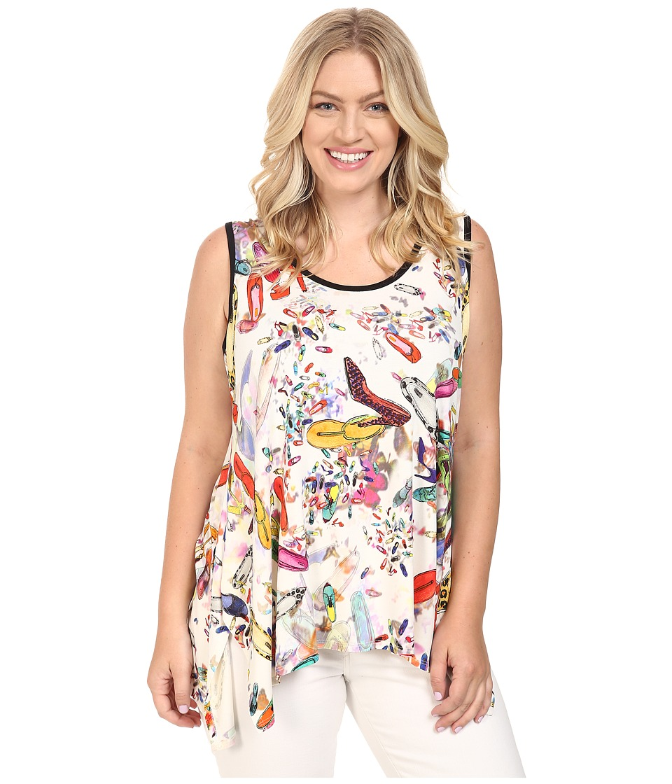 Karen Kane Plus - Plus Size Handkerchief Tank Top (Print) Women's Sleeveless