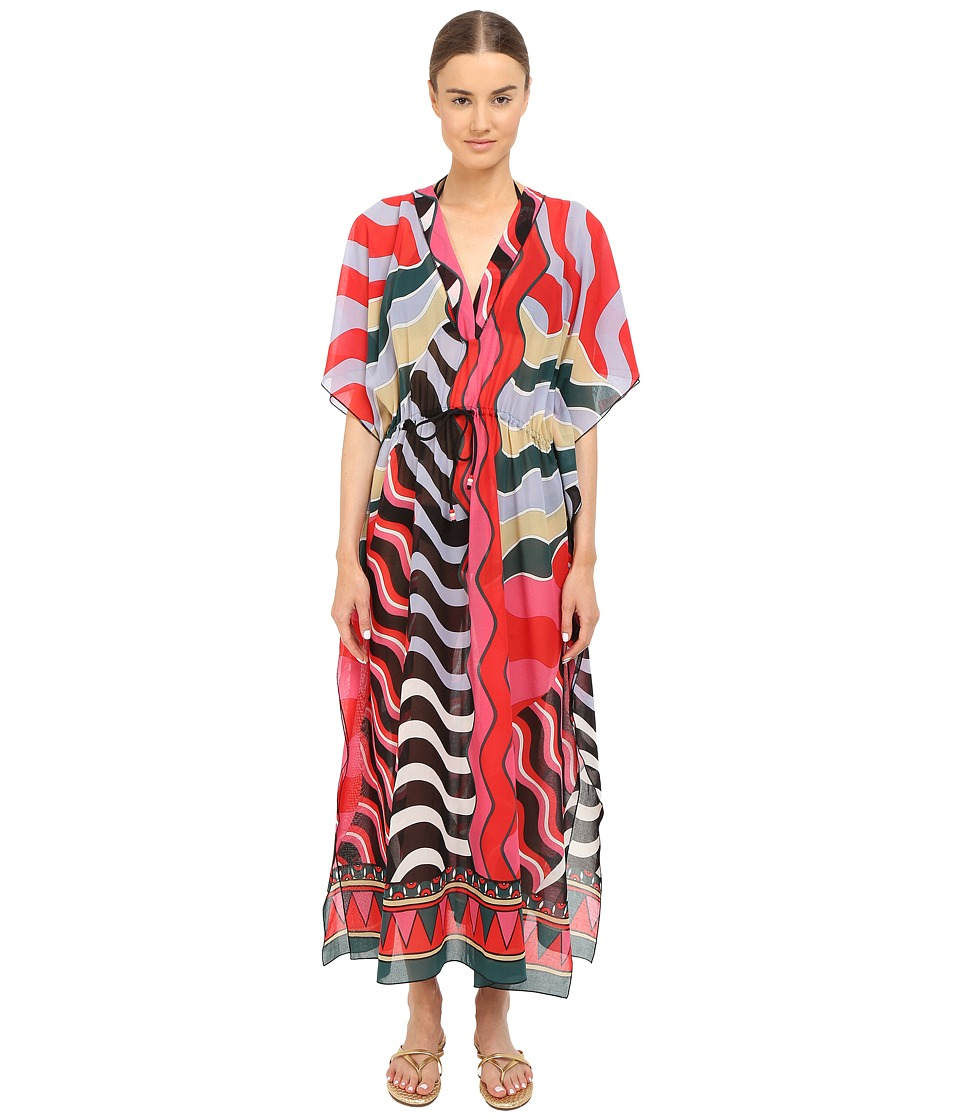 M Missoni - Stripe Long Kaftan Cover-Up (Black) Women's Swimwear