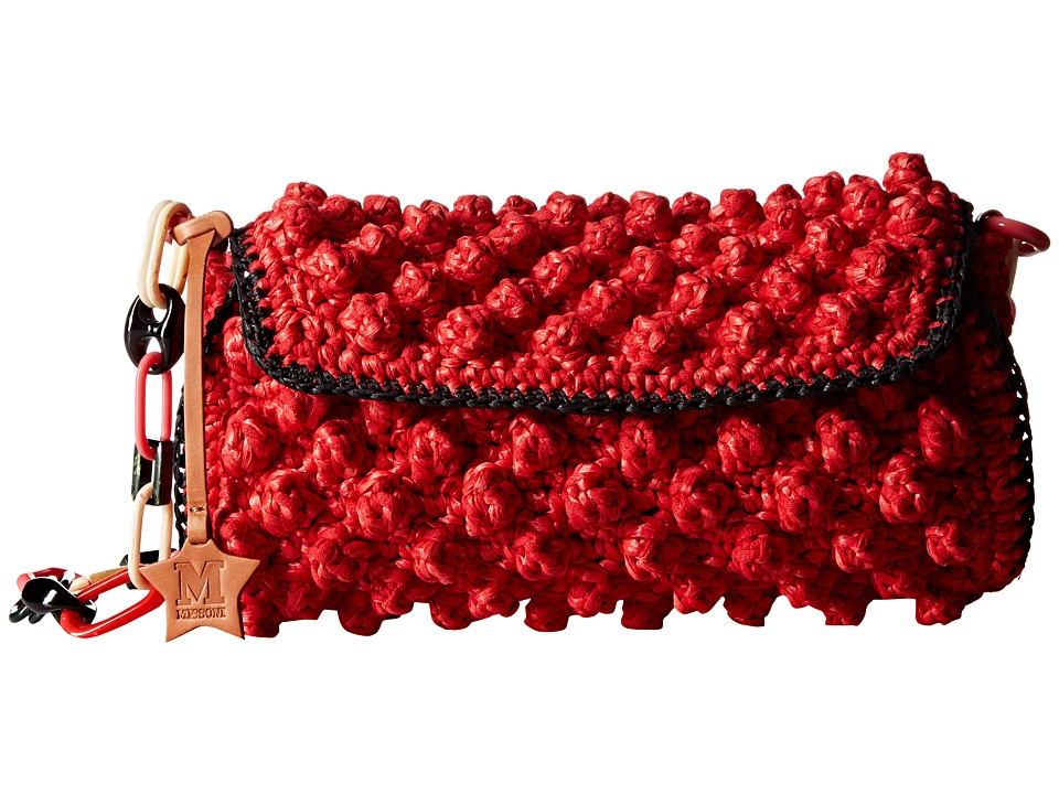 M Missoni - Raffia Over Shoulder (Red) Shoulder Handbags