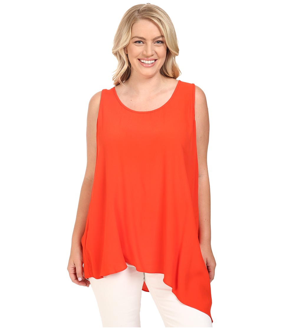 Karen Kane Plus - Plus Size Asymmetrical Tank Top (Poppy) Women's Sleeveless