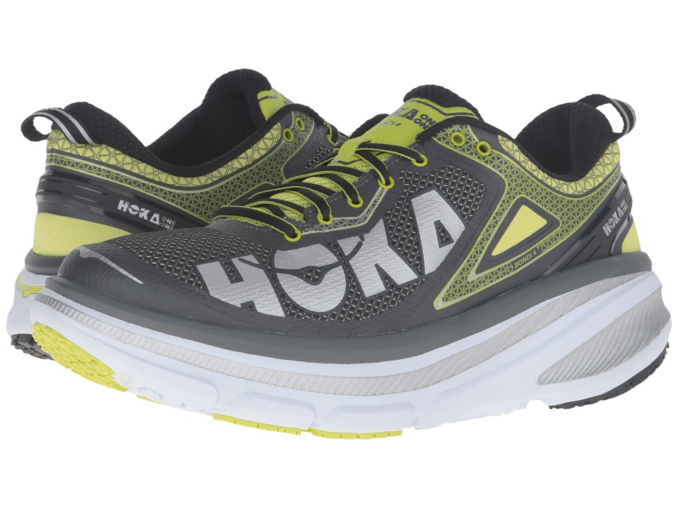 Hoka One One - Bondi 4 (Grey/Acid) Men's Running Shoes
