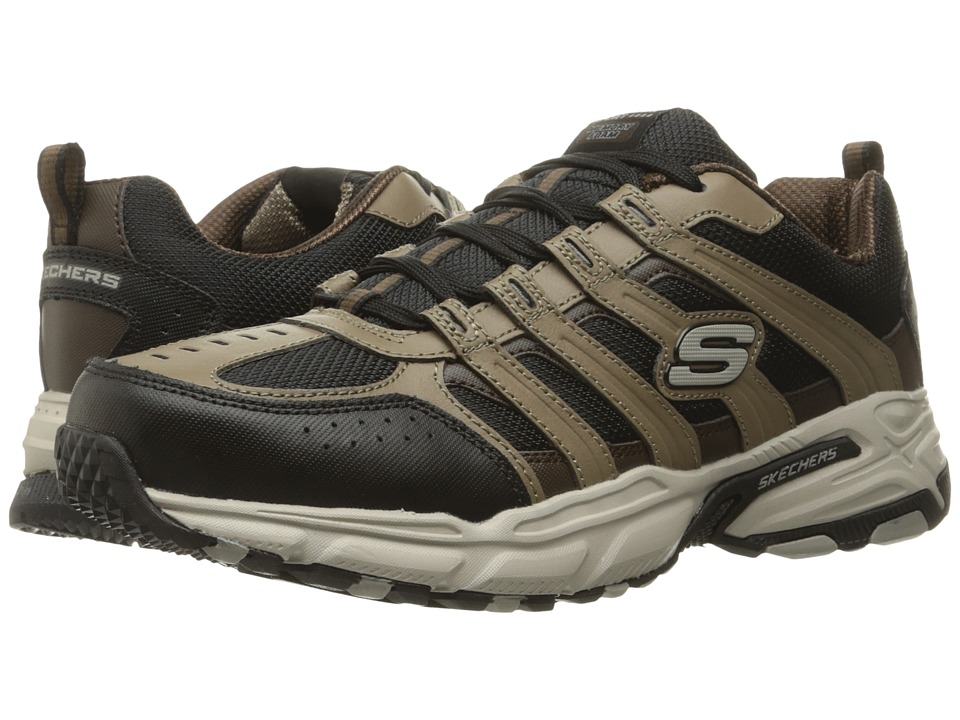 SKECHERS - Stamina Plus Rappel (Brown/Black) Men's Lace up casual Shoes