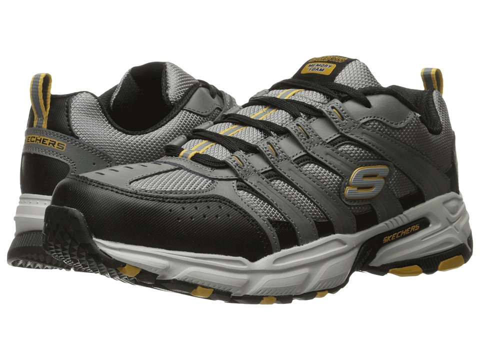 SKECHERS - Stamina Plus Rappel (Gray/Black) Men's Lace up casual Shoes