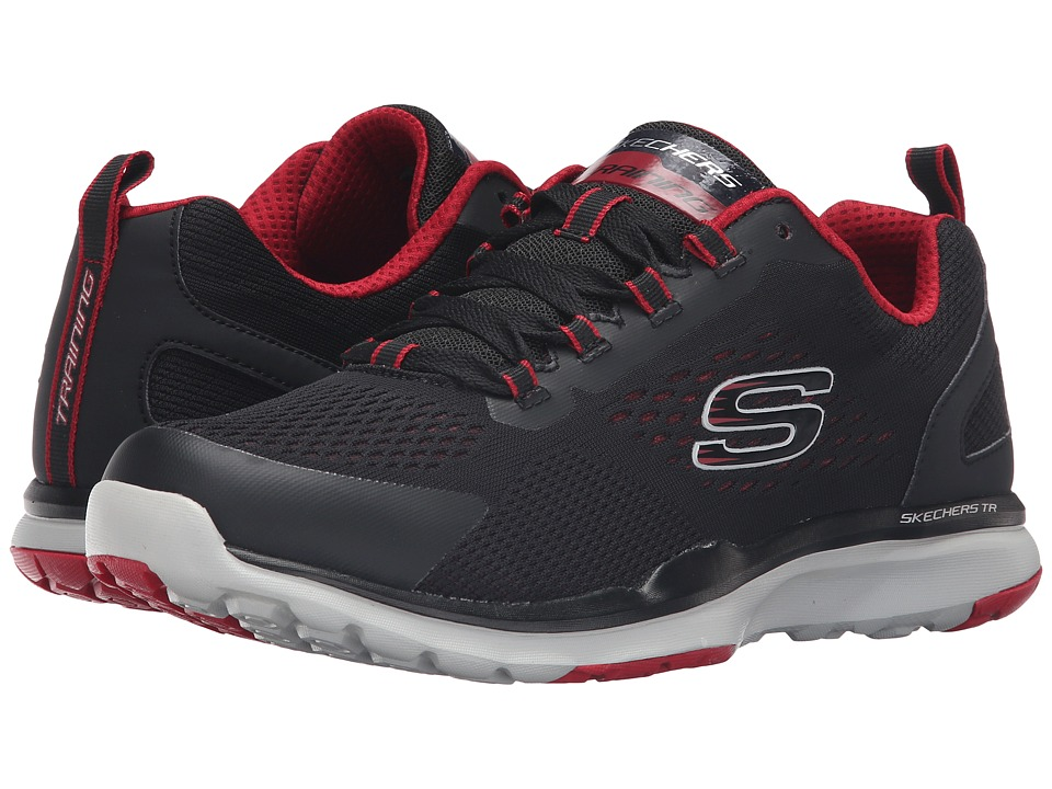 SKECHERS - Quick Shift TR (Black/Red) Men's Lace up casual Shoes