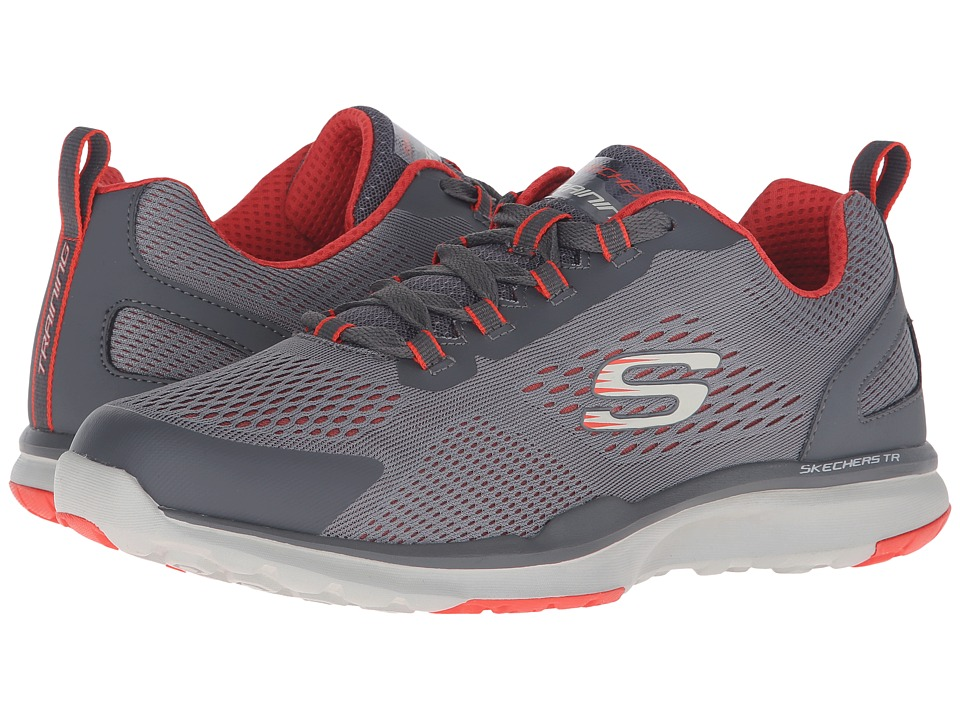 SKECHERS - Quick Shift TR (Charcoal/Orange) Men's Lace up casual Shoes