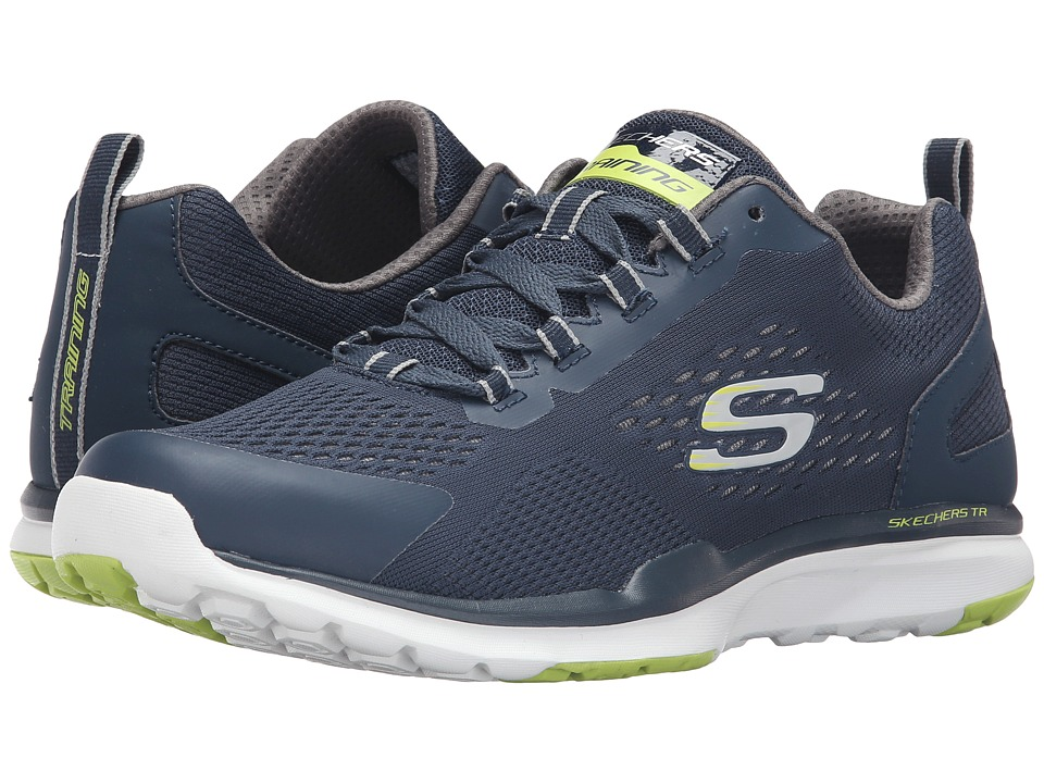 SKECHERS - Quick Shift TR (Navy/Lime) Men's Lace up casual Shoes