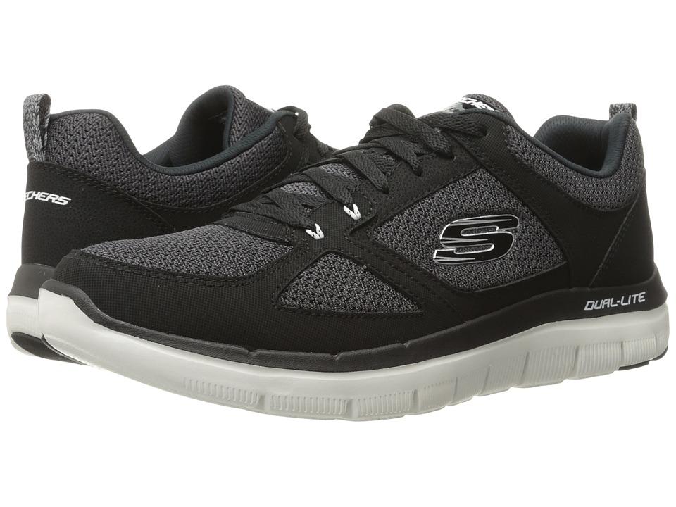 SKECHERS - Flex Advantage 2.0 (Black/White) Men's Lace up casual Shoes