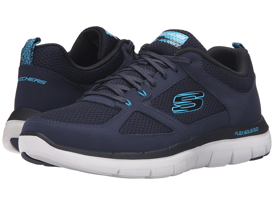 SKECHERS - Flex Advantage 2.0 (Navy/Blue) Men's Lace up casual Shoes
