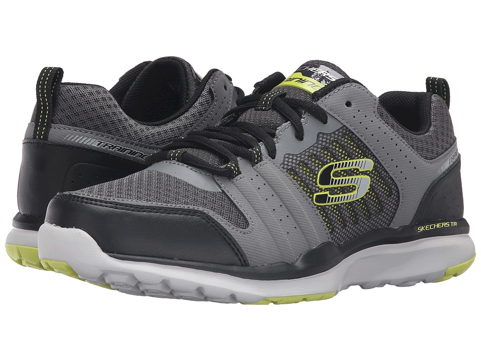 SKECHERS Quick Shift TR (Charcoal/Lime) Men