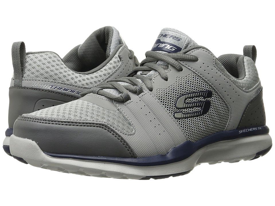 SKECHERS Quick Shift TR (Light Gray/Blue) Men