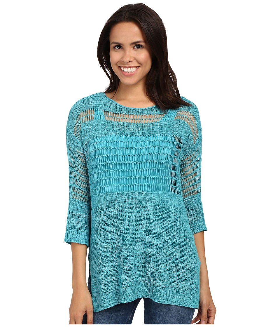 Miraclebody Jeans - Drew Dropneedle Sweater w/ Body-Shaping Inner Shell (Turquoise Blue) Women's Sweater