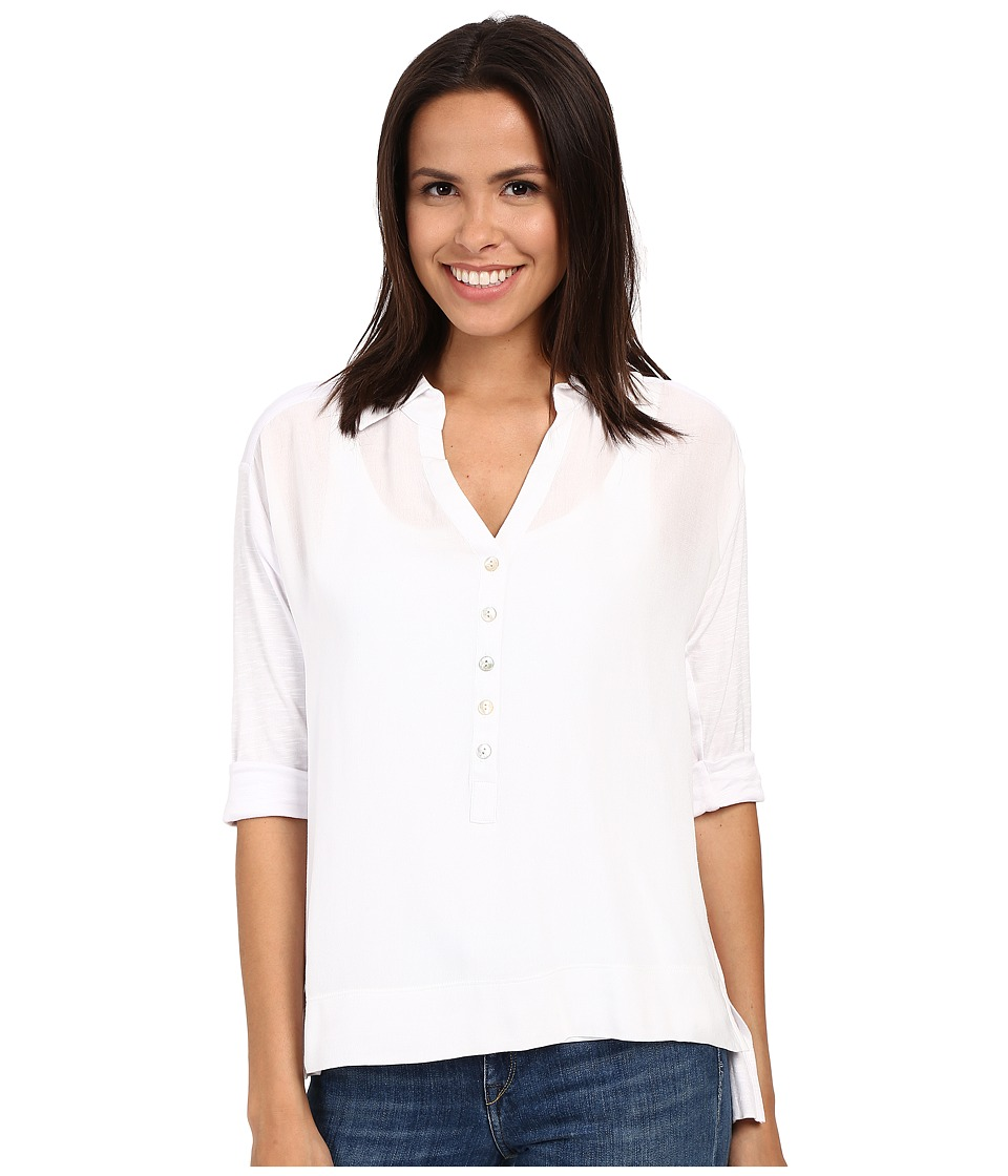 Miraclebody Jeans - Caitlyn Hi-Lo Top w/ Body-Shaping Inner Shell (White) Women's Blouse