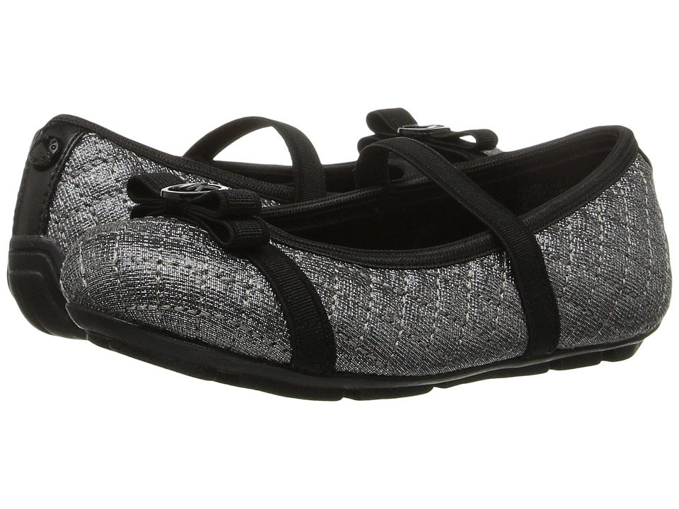 MICHAEL Michael Kors Kids - Rover Lilo-T (Toddler/Little Kid) (Pewter Saffiano) Girl's Shoes