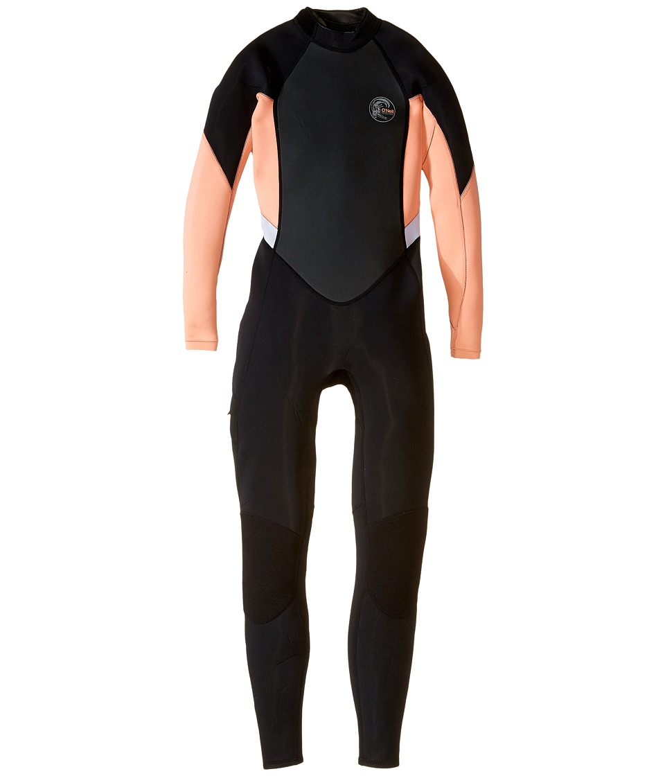 O'Neill - Bahia FL 3/2 (Black/Light Grapefruit/White) Women's Wetsuits One Piece