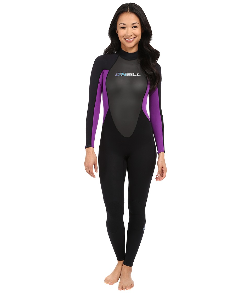 O'Neill - Reactor 3/2 Full (Black/Black/UV) Women's Wetsuits One Piece