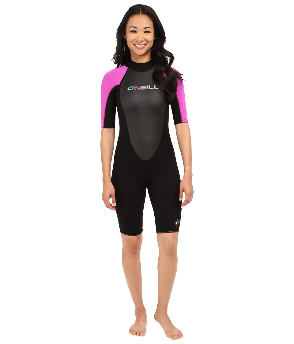 O'Neill - Reactor Spring Suit (Black/Berry/Black) Women's Wetsuits One Piece