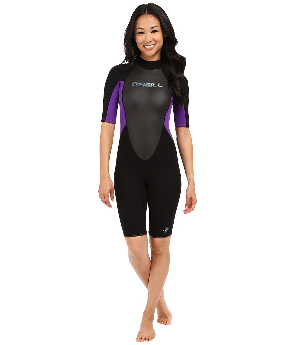 O'Neill - Reactor Spring Suit (Black/Black/UV) Women's Wetsuits One Piece