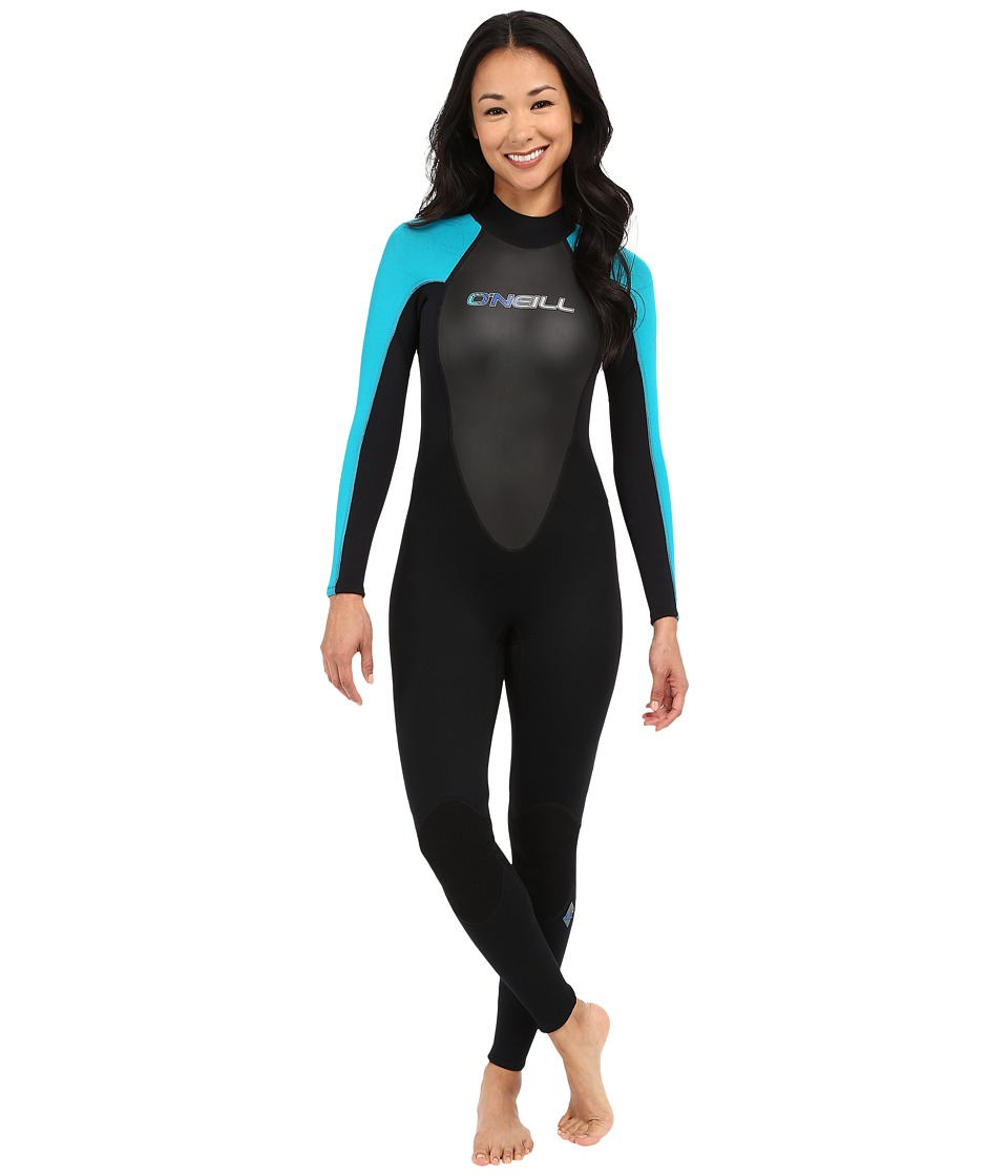O'Neill - Reactor 3/2 Full (Black/Turquoise/Black) Women's Wetsuits One Piece
