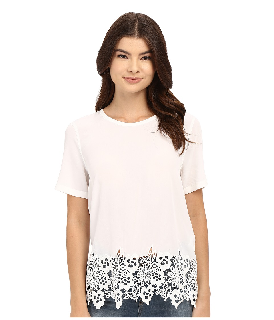 EQUIPMENT - Riley Tee (Bright White) Women's Blouse