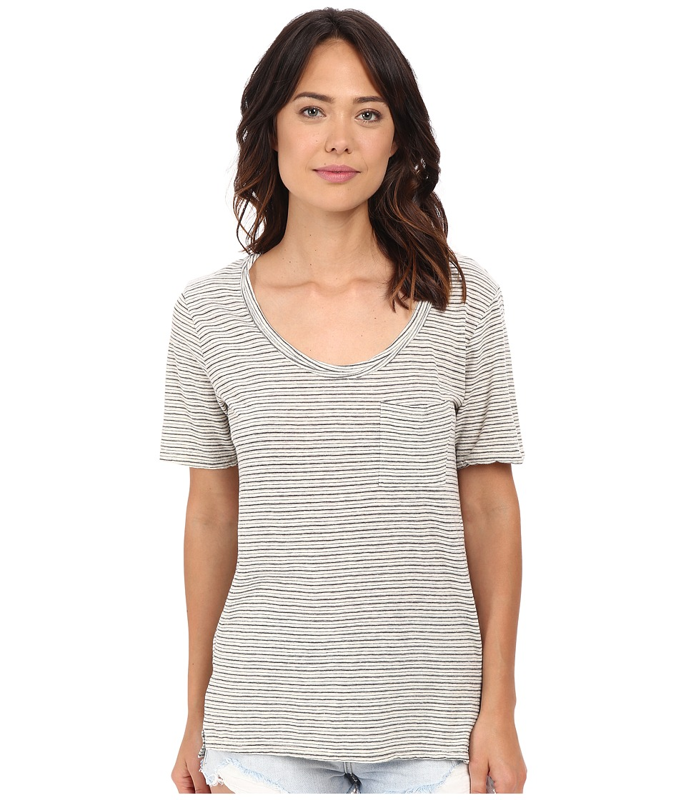 Project Social T - Ale Striped Tee (Washed Natural) Women's T Shirt
