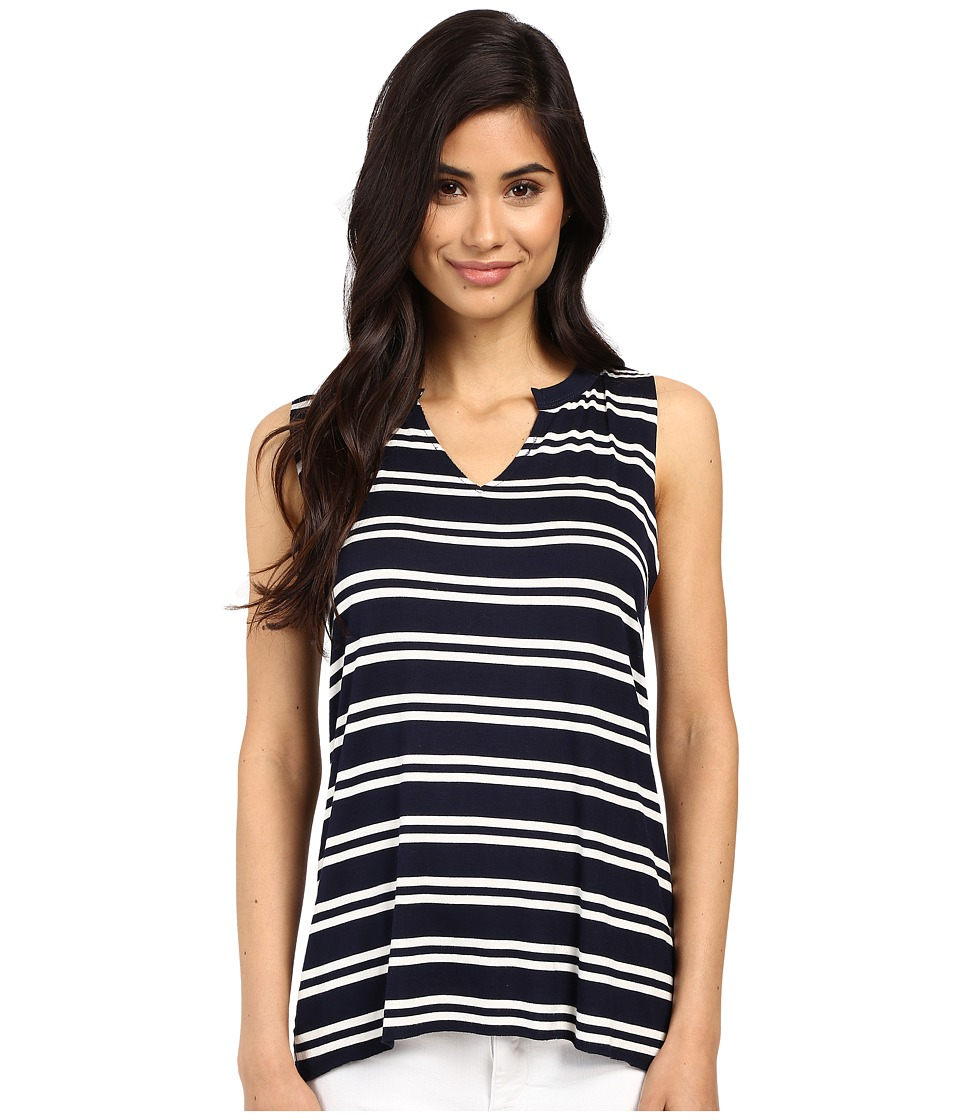 Project Social T - Stephanie Stripe Tank Top (Navy/White) Women's Sleeveless