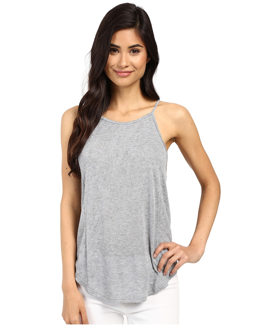 Project Social T - Sydney Shirttail Tank Top (Light Heather Grey) Women's Sleeveless