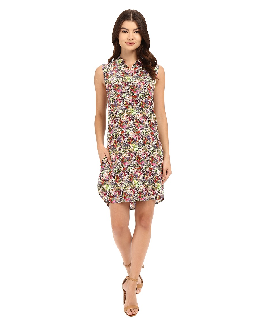 EQUIPMENT - Michaela Dress (Happy Pink Multi) Women's Dress