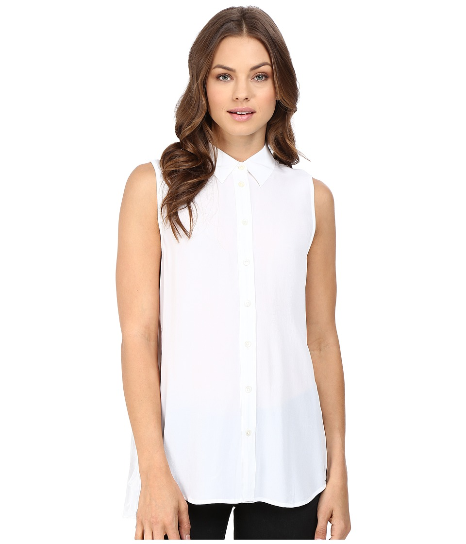 EQUIPMENT - Sleeveless Slim Signature (Bright White) Women's Sleeveless