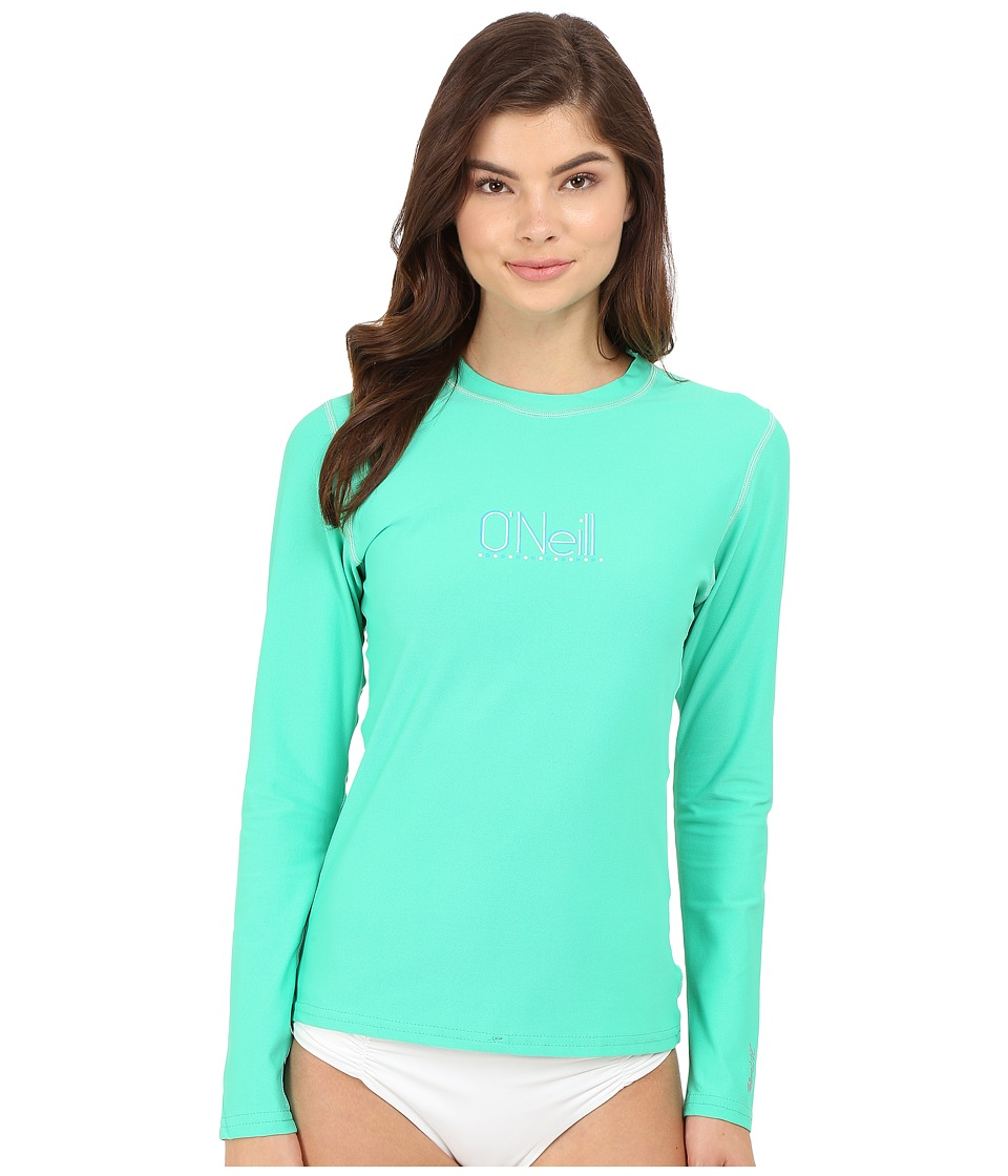 O'Neill - Tech 24-7 Long Sleeve Crew (Seaglass) Women's Swimwear
