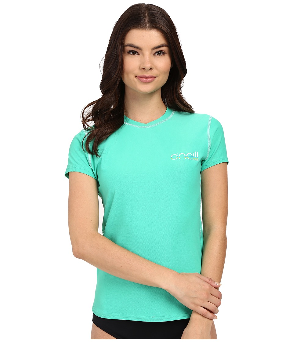 O'Neill - Tech 24-7 Short Sleeve Crew (Seaglass) Women's Swimwear