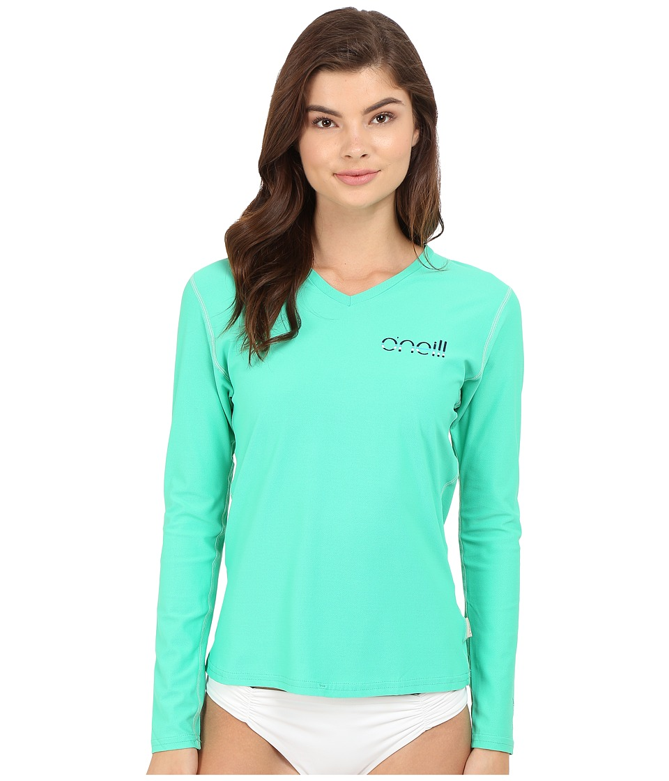 O'Neill - Tech 24-7 Long Sleeve V-Neck (Seaglass) Women's Swimwear